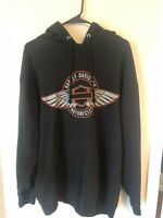 Harley Davidson Down Home North Carolina Pullover Hooded Sweatshirt Mens L EUC