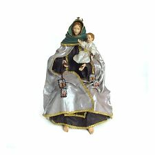 """Virgin Mary Statue of Our lady of Carmen and baby jesus 14"""" Catholic figure"""