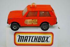 Matchbox SuperFast No:20 POLICE / SITE PATROL RANGE ROVER w/ Orange Roof Light