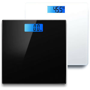 Bathroom Scales Weighing Digital LCD Electronic Home Body Glass Scale Weight