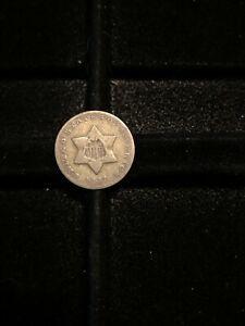 1851-O Silver 3 Cent Trime Very Fine