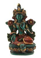 Soprammobile Tibetano Da Verde Tara IN Resina Verniciato Alla Mano 9cm - 3186