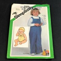 Simplicity Vintage Sewing Pattern #5255 Toddler Overalls 2 Lengths Size 3 Uncut