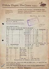 ULM, Brief 1943, Buchbinderei Wilhelm Wagner