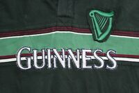 Guinness Embroidered Thick Rugby POLO SHIRT Medium M