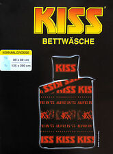 Kiss Bettwäsche Schwarz Fanartikel 135x200cm Rock Kult Heavy Metall ALive!  NEU