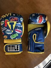 Title Boxing Cartoon Neoprene Comic Book Boxing Gloves