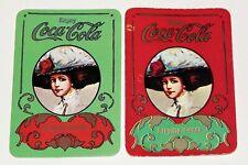 COCA COLA LADIES - 2 SINGLE Vintage Swap Playing Trading Cards COKE Advertising