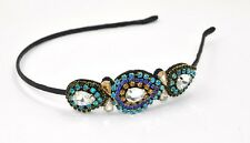 Elegant blue crystal-and-jewel style headband by HAIR ASIA