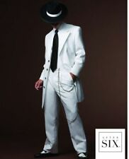 Boys 16 Zoot Suit Tuxedo White / Black Pinstripes Long Frock Gangster Coat Pants