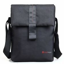 "Bauer Messenger Bag In Black for iPads, tablets upto 12"" Kindle Helix Venue Vaio"