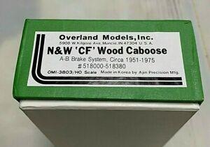 OVERLAND MODELS N&W CF WOOD CABOOSE BRASS TRAIN HO circa 1951-1975
