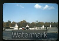 1950s red border Kodachrome Photo slide  Bus Cars Automobiles Europe