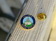 Halifax Nova Scotia Light House Gold Tone Metal & Enamel Lapel Pin Pinback