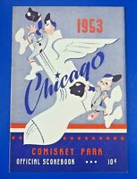 1953 CHICAGO WHITE SOX SCORECARD PROGRAM vs BOSTON RED SOX ~ Unscored ~ NM/MT