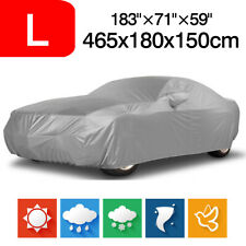 183'' Polyester Waterproof Full Sedan Car Cover UV Dust Rain Resistant Protector
