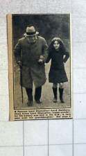 1921 Three Times Lord Chancellor Lord Halsbury With His Grand Daughter