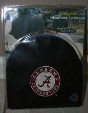 Alabama BLACK Head Rest Covers