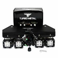 TurboMetal® 2 x 12W LED Spot Light/Bumper Mount Bracket For 10-14 F150 Raptor