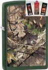 Zippo 29129 realtree mossy oak Lighter + FUEL FLINT & WICK GIFT SET
