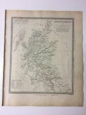 Vintage Original 1845 Topographic Map Of 'Scotland-Ancient Britain, Caledonia'