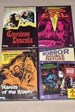 Hammer Horror 4 DVD Lot: Countess, Twins of Evil, Ripper, Frankenstein, Dracula