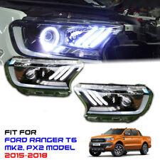 Head Light Lamp LED Projector Daytime Mustang Style Ford Ranger Mk2 XLT 15-18