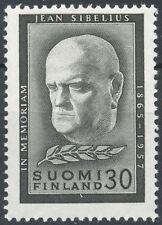 Finland 1957 MNH - For the Memory of Jean Sibelius - Famous Finnish Composer