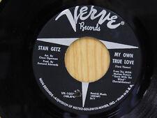 Stan Getz 45 MY OWN TRUE LOVE / A TRIBUTE TO STAN   Verve M-