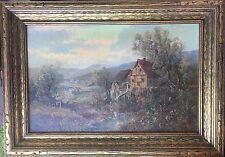 Karl Vikas (Austria, 1875 - 1934), Oil On Canvas, Mill Near Strassburg