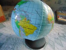 Inflatable globe of the world
