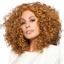 Womens Natural Short Curly Wig Brown Blonde Carnival Cosplay Bob Wavy Hair Wigs