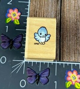 Stampendous Mini Baby Bird Rubber Stamp 1996 Precious Moments Wood #M75