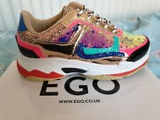 Womens Multi Colour EGO  Trainers Uk Size 6