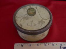Langlois Lavender Bath Powder New York tin 1 lb art deco old w/puff vtg 1930's ?