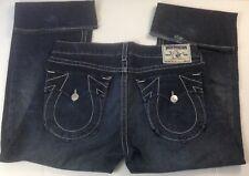 True Religion Billy Dark Blue Denim Distressed Bootcut Flared Jeans SZ 42 - Nice