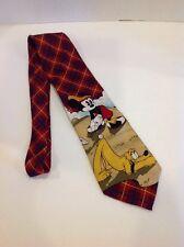 The Disney Store Mickey Mouse & Pluto Golf Men's Neck Tie 100% Silk Multi-Color