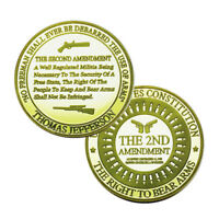US The 2ND Amendment Gun Control Right to Bear Arms Commemorative Challenge Coin