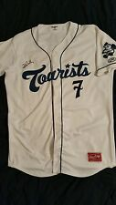 Colorado Rockies forrest wall signed game used/worn ashville tourist jersey