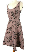 Phase Eight Size 8 Light Purple Sleeveless Floral Dress Fit Flare Wedding Party