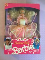 Mattel Blonde Costume Ball Barbie 1990 Includes Mask For Dress up in box