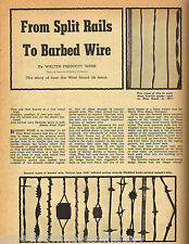 Barbed Wire History From Split Rails + Genealogy