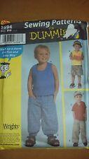 Simplicity 5694 Toddlers' Pants Shorts Visor Knit Tops - sizes 2,3,4