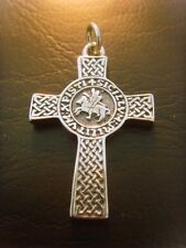 Knights templar pendant ebay cross masonic knights templar seal pendant solid sterling silver 925 mozeypictures Image collections