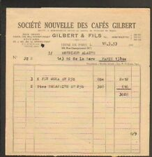 "PARIS XVIII° / USINE de CAFES / TORREFACTION ""GILBERT & Fils"" en 1953"