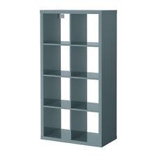 Ikea Kallax 2 x 4 Shelf Unit High Gloss Gray-Turquoise 603.244.93