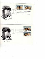 Us stamps Fdc #2025 Puppy & Kitten 2 stamps Artmaster 45 in auction g12 cv$57