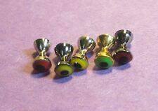 75 REAL EYES Plus barbell dumbbell beads..4.8mm (3/16) SAMPLER PACK