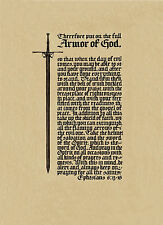 Armor of God Poster - Sword Bible verses in Old English calligraphy