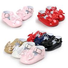 Baby Newborn Girl Princess Grib Shoes Leather Soft Sole Sneaker Christening Pram